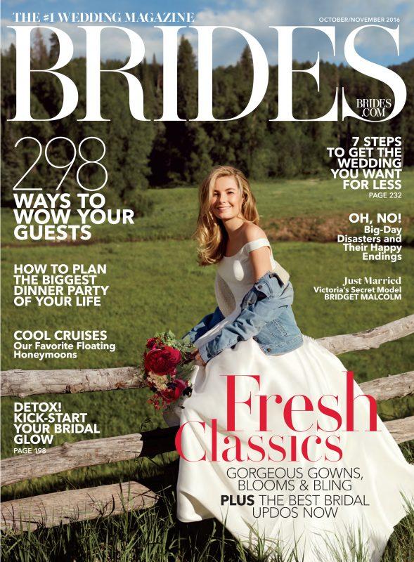 ellis bridals on front cover of Brides magazine