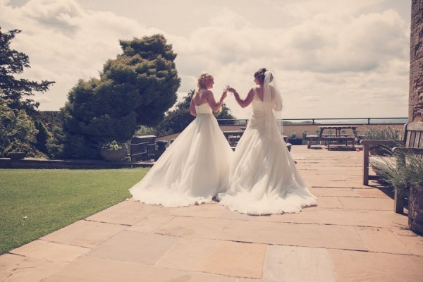 Natalie and Aimee wedding day in ellis bridals 11452